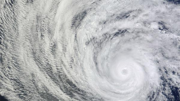 Hurricane Daniel's Spiraling Clouds Spotted from Space