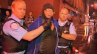 Police arrested a man after a shooting during a victory speech by PQ Leader Pauline Marois.