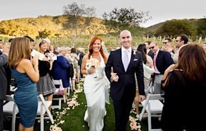 See Elisa Donovan's Gorgeous Wedding Dress, Romantic Ceremony!