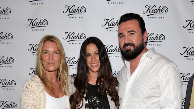 From left, Mitch Hedlund, Founder & Executive Director, Recycle Across America, musician Alanis Morissette and Chris Salgardo, President, Kiehl's USA, attend Kiehl's Earth Day Celebration at Kiehl's on Wednesday, April  17, 2013, in Santa Monica, Calif. (Photo by John Shearer/Invision for Kiehl's/AP Images)