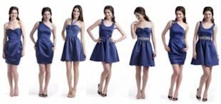 Attractive bridesmaid offerings from Rent the Runway Weddings