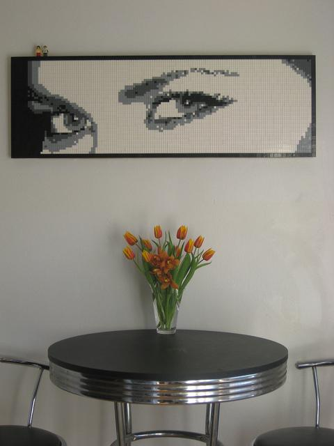 Eyes Lego Mosaic by Dave Ware