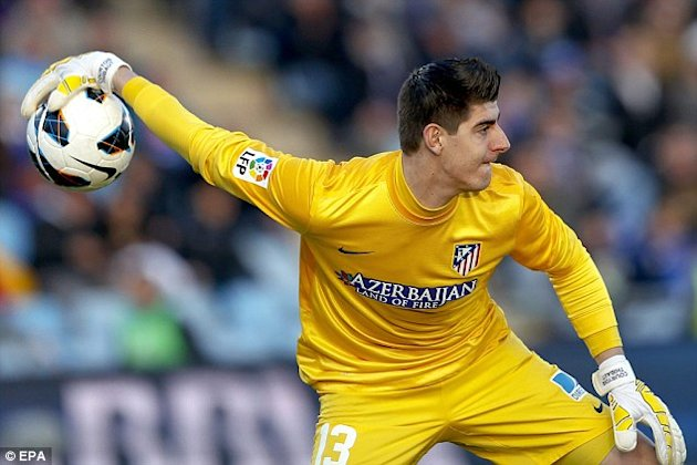 Highly-rated goalkeeping prospect Thibaut Courtois, now on loan at Atletico Madrid.