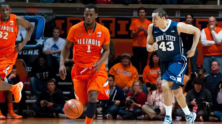 NCAA Basketball: Penn State at Illinois