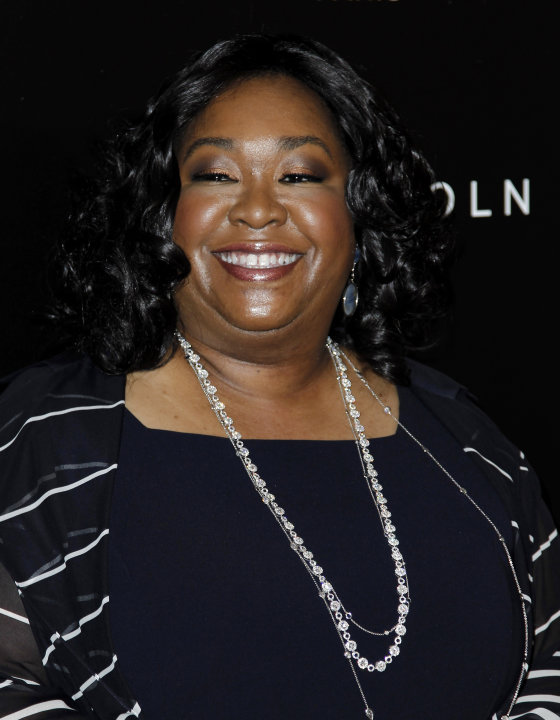 "FILE - In this Thursday, Feb. 23, 2012 file photo, Shonda Rhimes arrives at the 5th annual Essence Black Women in Hollywood Luncheon in Beverly Hills, Calif. ""Grey's Anatomy"" creator, Shonda Rhimes, i"