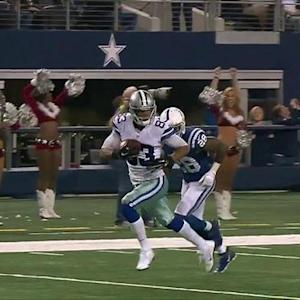 Dallas Cowboys quarterback Brandon Weeden throws 43-yard touchdown pass to wide receiver Terrance Williams