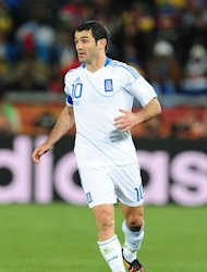 Giorgos Karagounis said Greece had overcome obstacles to reach the quarter-finals