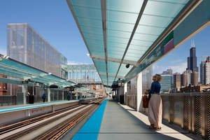 Translucent Canopies by Duo-Gard Elevate CTA's New Morgan Street Station