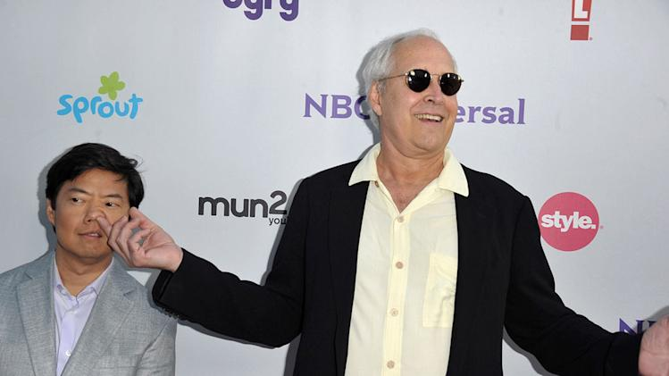 "Ken Jeong and Chevy Chase of ""Community"" attend the NBC Universal Summer TCA 2011 All-Star Party at the SLS Hotel on August 1, 2011 in Los Angeles, California."