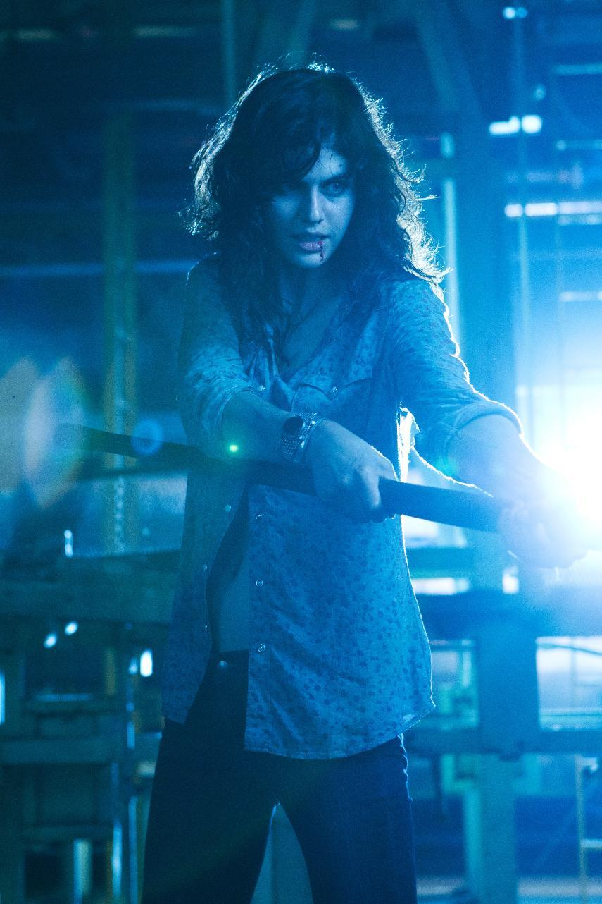 "This undated publicity film image from Lionsgate shows Alexandra Daddario, as Heather Miller in a scene from ""Texas Chainsaw 3-D,"" releasing in theaters on Friday, January 4, 2013.  (AP Photo/Lionsgate, Justin Lubin)"