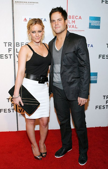 "Hilary Duff and Mike Comrie attend the 8th Annual Tribeca Film Festival ""Stay Cool"" premiere on April 23, 2009 in New York City, New York."