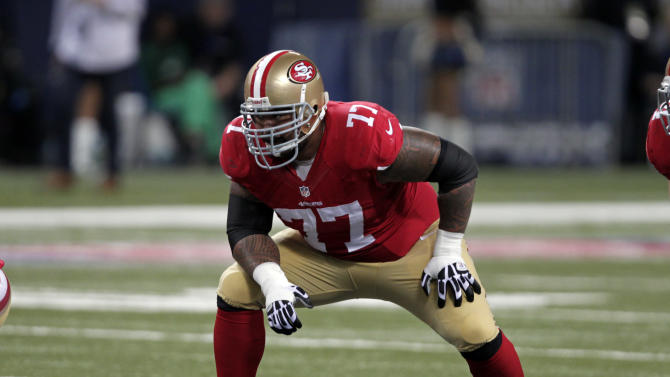 49ers Iupati misses 1st start; Skins FB Young out
