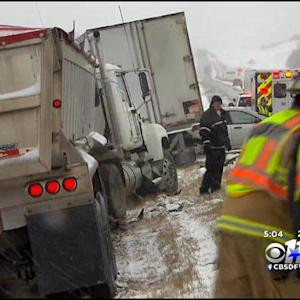 Chain Reaction Crash Snarls Traffic On Highway 75
