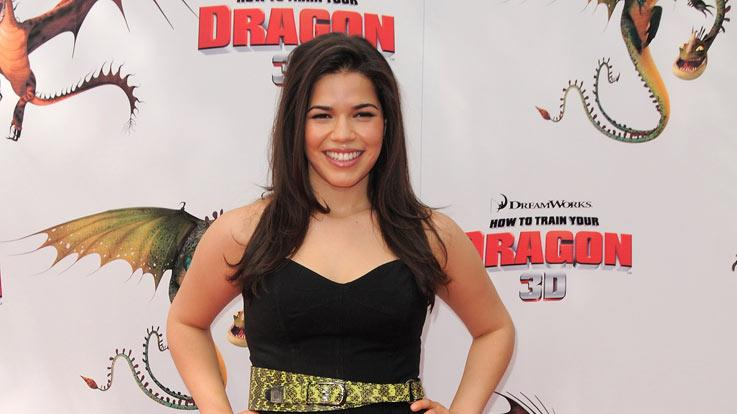 America Ferrera arrives at the premiere of ''How To Train Your Dragon'' at Gibson Amphitheater on March 21, 2010 in Universal City, California.
