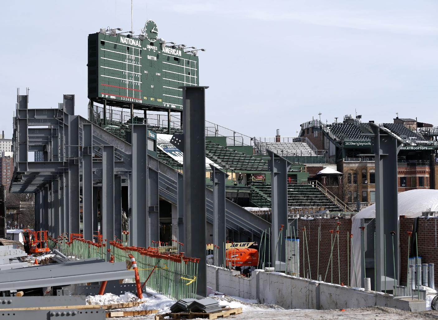 Cubs expect 'dusty' year amid Wrigley Field renovations