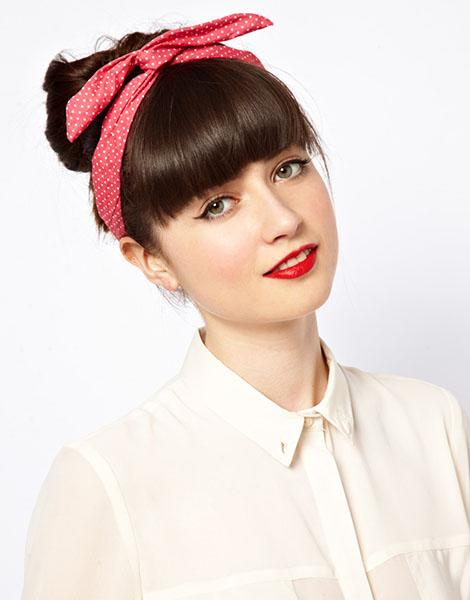 Johnny Loves Rosie Polka Heart Wire Wrap Head Band, $23.74 at asos.com