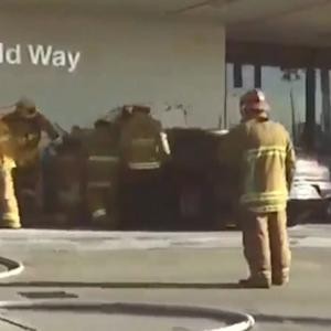 Porsche crashes into LAX terminal, injuring three