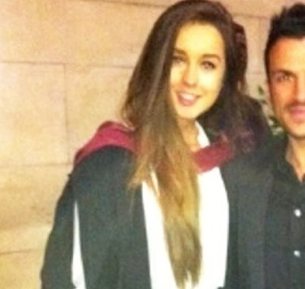 Peter Andre tweeted this snap of him and Emily MacDonagh on her graduation day