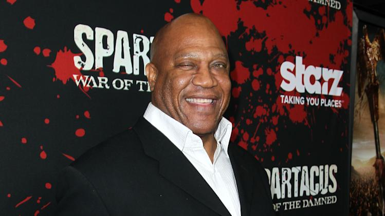 "Tommy 'Tiny' Lister arrives at the premiere of ""Spartacus: War of the Damned"" on Tuesday, Jan. 22, 2013 in Los Angeles. ""Spartacus: War of the Damned"" premieres Friday, Jan. 25 at 9PM on STARZ. (Photo by Matt Sayles/Invision for STARZ/AP Images)"