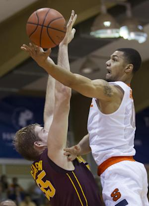No. 8 Syracuse outlasts Minnesota 75-67 in Maui