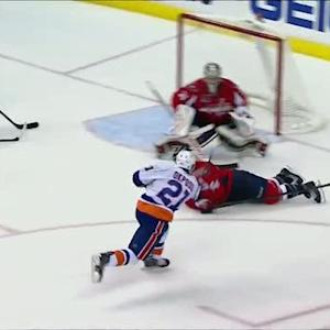 Okposo beats Grubauer from the circle