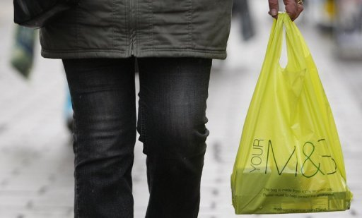 <p>British retailer Marks & Spencer has said that net profits sank in the first half of its financial year, as the company failed to win a boost from the Queen's Diamond Jubilee and the London Olympics.</p>