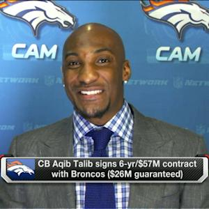 Cornerback Aqib Talib thrilled to join the Denver Broncos