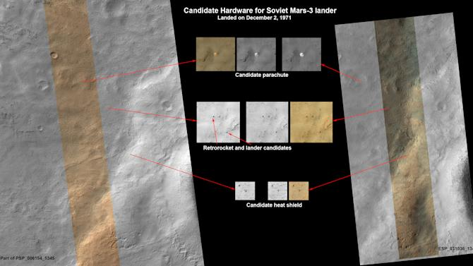 Soviet Mars spacecraft possibly spotted in photos