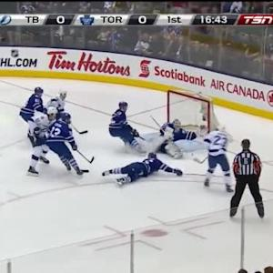 James Reimer Save on J.T. Brown (03:18/1st)