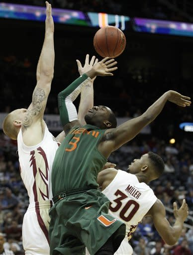 No. 17 FSU beats short-handed Miami, 82-71, in ACC