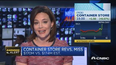 The Container Store beats on expected loss