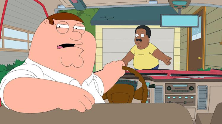 "Cleveland is upset when he finds out that his best friend Peter Griffin came to Stoolbend and did not call him to hang out in the all-new season premiere episode ""BFFs"" of ""The Cleveland Show."""