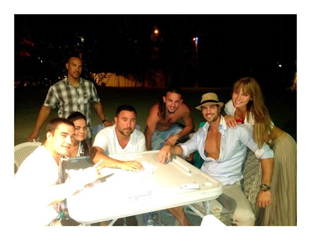 "William Levy: ""I spent time with my friends"""