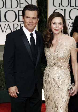 FILE - This Jan. 15, 2012 file photo shows actors Josh Brolin, left, and Diane Lane at the 69th Annual Golden Globe Awards in Los Angeles. Lane and Brolin are divorcing after eight years of marriage. A representative for the couple confirmed the split Thursday, Feb. 21, 2013. Brolin and Lane were married in 2004, the second marriage for both. (AP Photo/Matt Sayles, file)