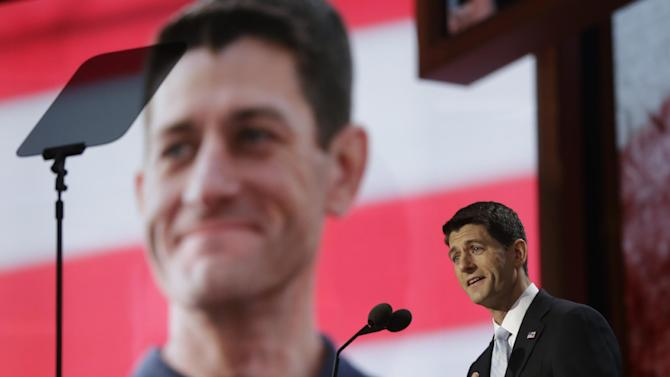 Republican vice presidential nominee, Rep. Paul Ryan addresses the Republican National Convention in Tampa, Fla., on Wednesday, Aug. 29, 2012. (AP Photo/Charles Dharapak)
