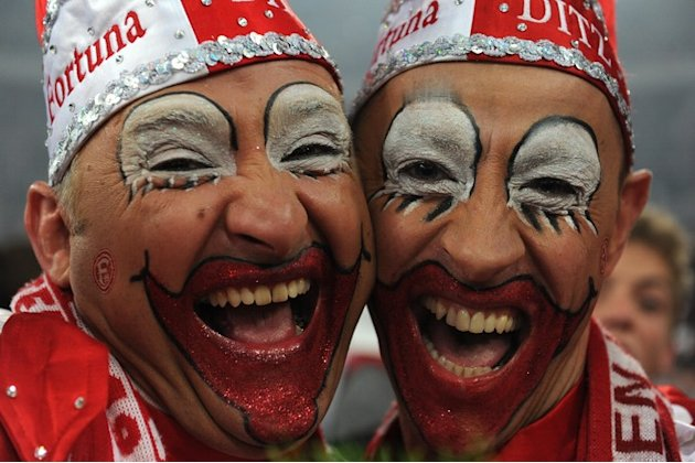 Duesseldorf´s Fans AFP/Getty Images