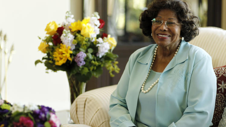 Katherine Jackson poses for a portrait in Calabasas, Calif., Wednesday, April 27, 2011.  Jackson is lending her name and floral tastes to arrangements being sold online in a venture that provides her some peace-of-mind in advance of the upcoming trial for the doctor accused of her son Michael Jackson's death.  (AP Photo/Matt Sayles)