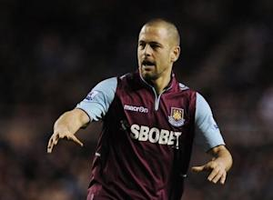 West Ham United's Cole reacts during their English Premier League soccer match against Sunderland in Sunderland