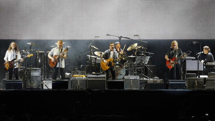 File photo of the rock group the Eagles performing at a concert in Monaco