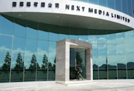 File photo of the headquarters of Next Media, owned by media mogul Jimmy Lai in Hong Kong. Shares in Next Media on Thursday jumped as much as 56 percent after the firm said it would sell its Taiwan assets in a deal worth $600 million