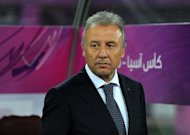 Japan's coach Alberto Zaccheroni attends the 2011 Asian Cup final match between Australia and Japan at Khalifa Stadium in Doha, 2011. Japan have extended Zaccheroni's contract as the Asian champions build towards the 2014 World Cup finals in Brazil