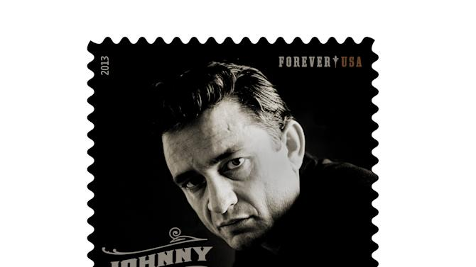 Family celebrates release of new Johnny Cash stamp