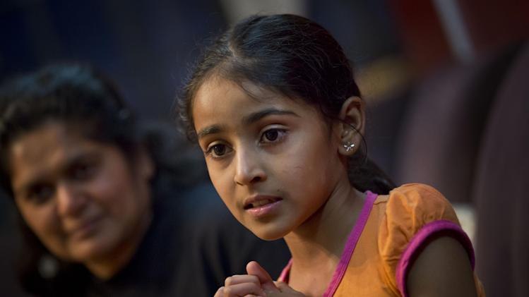 Sarkar, 9, centre, recounts what happened to her during the Westgate ...