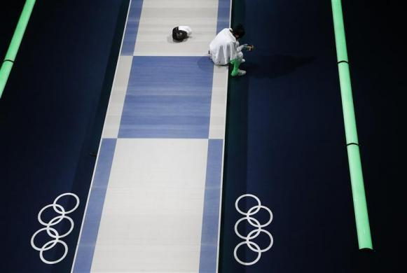 Robotic-camera shots from the Olympics