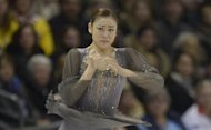 South Korea's Kim Yu-Na performs at the 2013 World Figure Skating Championships in Ontario, Canada, on March 16, 2013