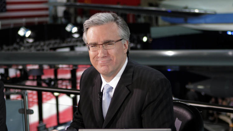 FILE - In this May 3, 2012 file photo, Keith Olbermann poses at the Ronald Reagan Library in Simi Valley, Calif. Current TV has dismissed Keith Olbermann from its talk-show lineup after less than a year, Friday, March 30, 2012. (AP Photo/Mark J. Terrill, File)