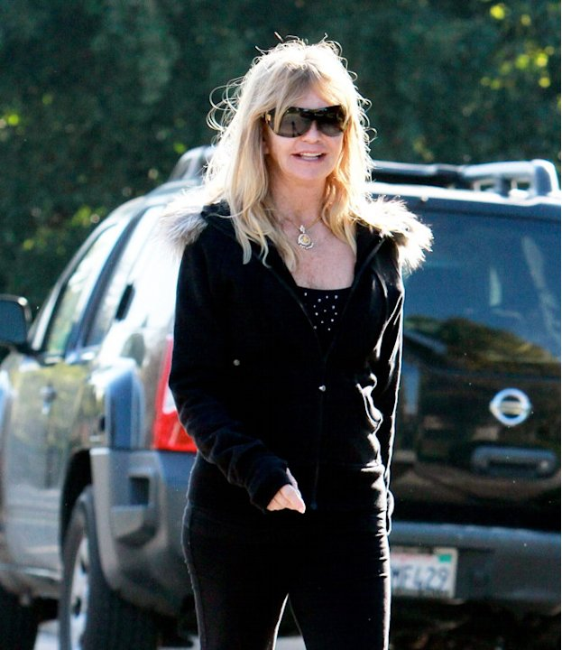 EXCLUSIVE Goldie Hawn happily strolling in the Palisades