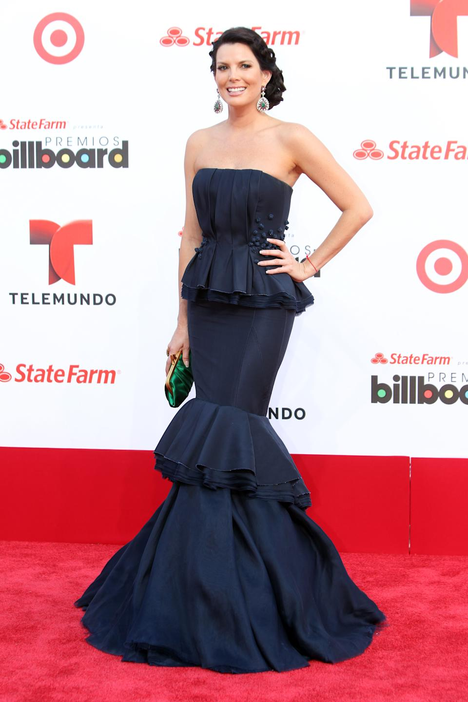 Colombia actress Maritza Rodriguez arrives at the Latin Billboard Awards in Coral Gables, Fla. Thursday, April 25, 2013. (Photo by Carlo Allegri/Invision/AP)