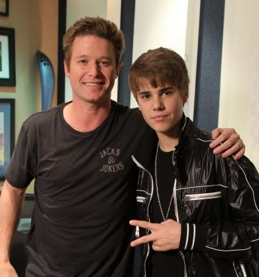 "Billy Bush and Justin Bieber in ""The Billy Bush Show"" studio, Burbank, Feb. 8, 2011 -- Access Hollywood"