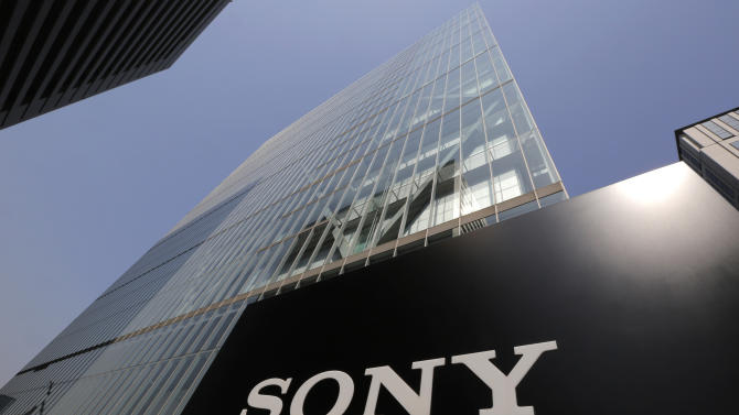 Sony's logo is seen outside the company's headquarters in Tokyo, Wednesday, May 22, 2013. Sony's CEO Kazuo Hirai said Wednesday the company's board will discuss a proposal by U.S. hedge fund manager Daniel Loeb to spin off up to 20 percent of its movie, TV and music division. (AP Photo/Itsuo Inouye)